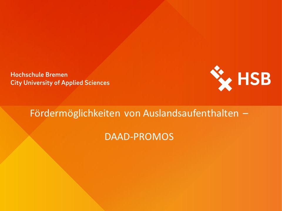 Fördermöglichkeiten von Auslandsaufenthalten – DAAD-PROMOS