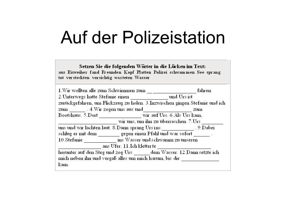Auf der Polizeistation
