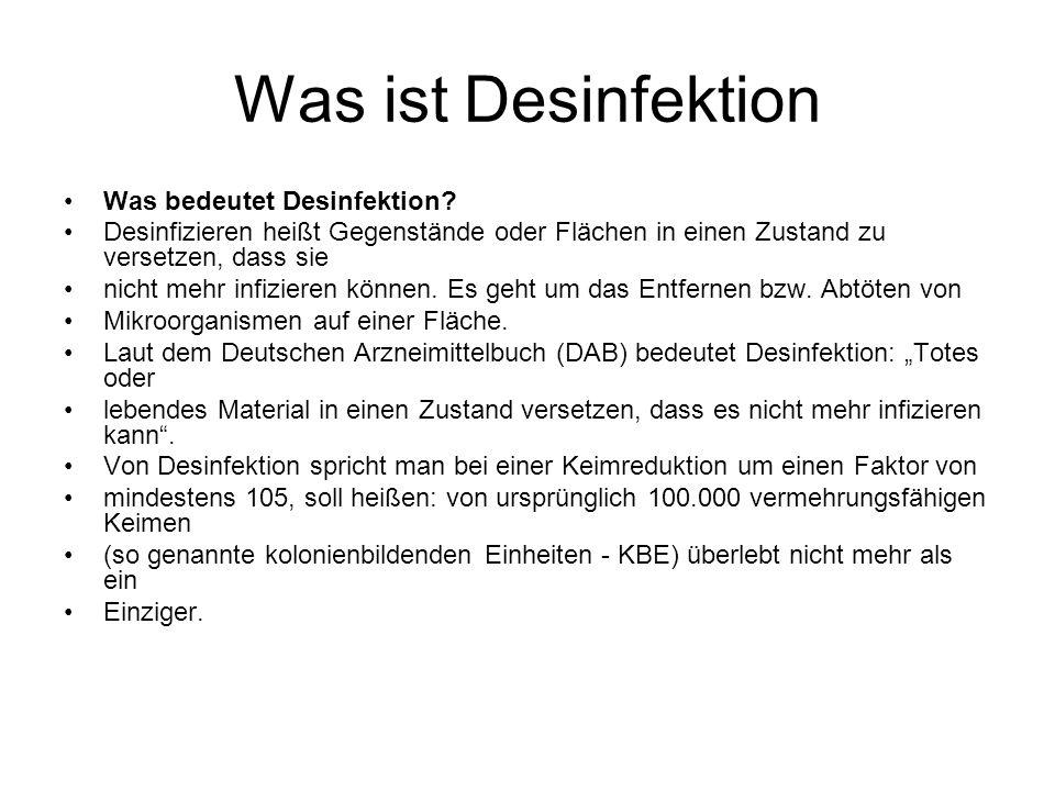 Was ist Desinfektion Was bedeutet Desinfektion.