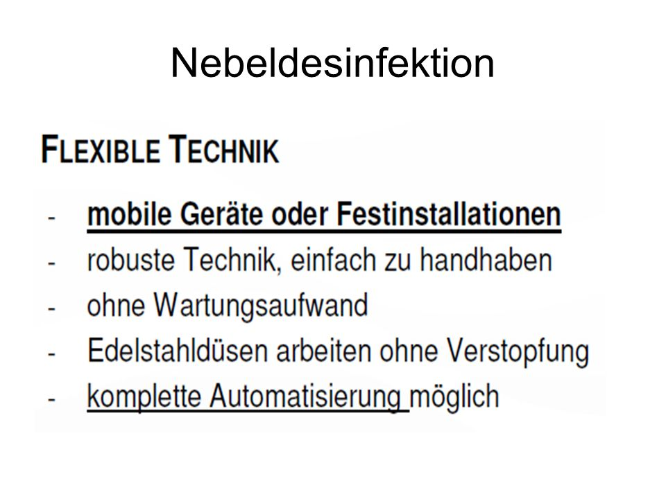 Nebeldesinfektion