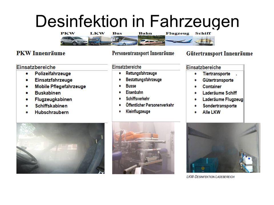 Desinfektion in Fahrzeugen
