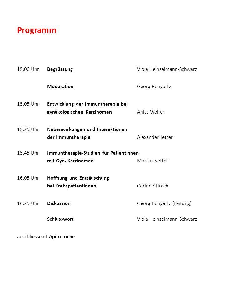 Referenten Prof.Dr. med. Georg Bongartz Facharzt FMH für Radiologie, Stv.
