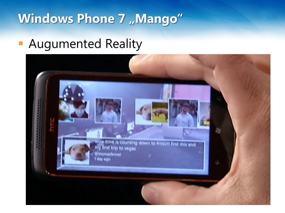 "Windows Phone 7 ""Mango""  Augumented Reality"
