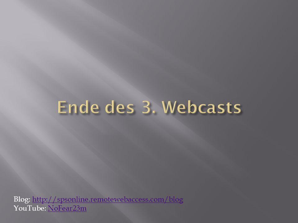 Blog: http://spsonline.remotewebaccess.com/bloghttp://spsonline.remotewebaccess.com/blog YouTube: NoFear23mNoFear23m