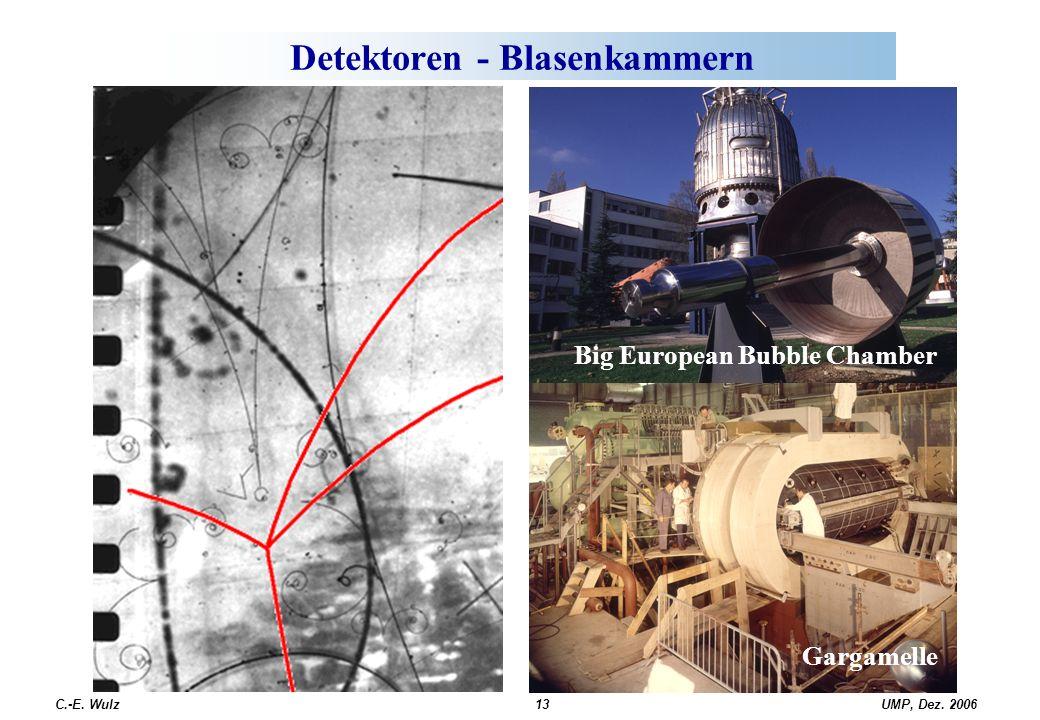 UMP, Dez. 2006C.-E. Wulz13 Detektoren - Blasenkammern Big European Bubble Chamber Gargamelle