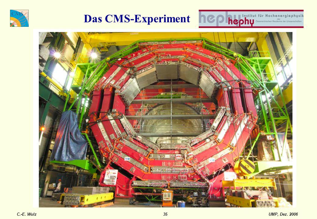 UMP, Dez. 2006C.-E. Wulz35 Das CMS-Experiment
