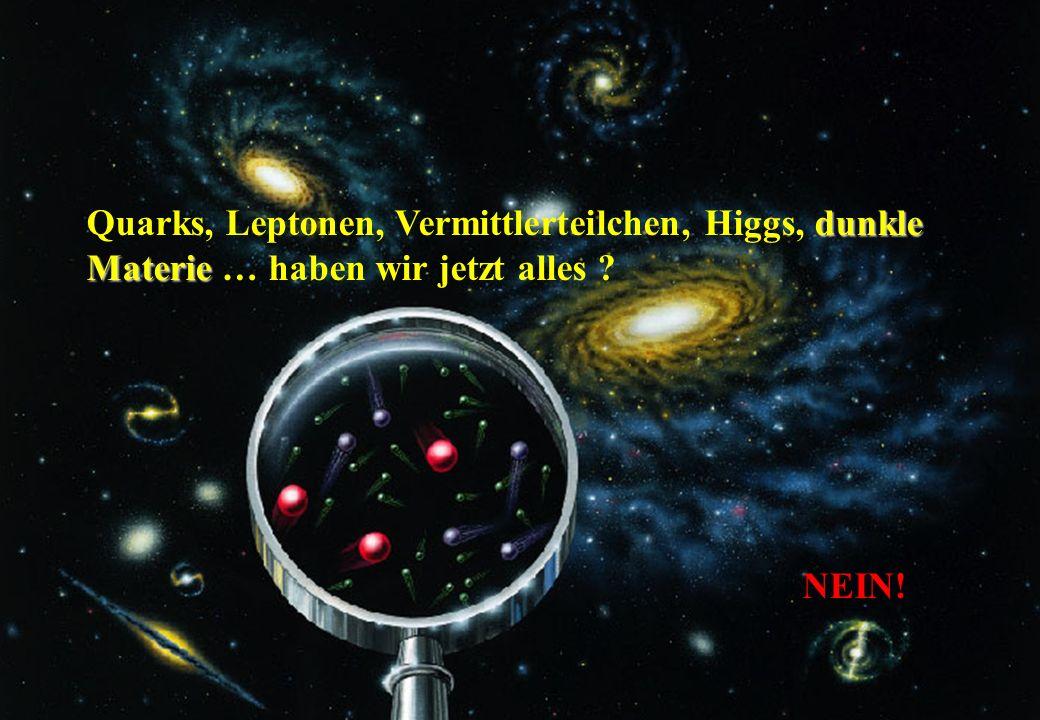 UMP, Dez. 2006C.-E. Wulz44 dunkle Materie Quarks, Leptonen, Vermittlerteilchen, Higgs, dunkle Materie … haben wir jetzt alles ? NEIN!