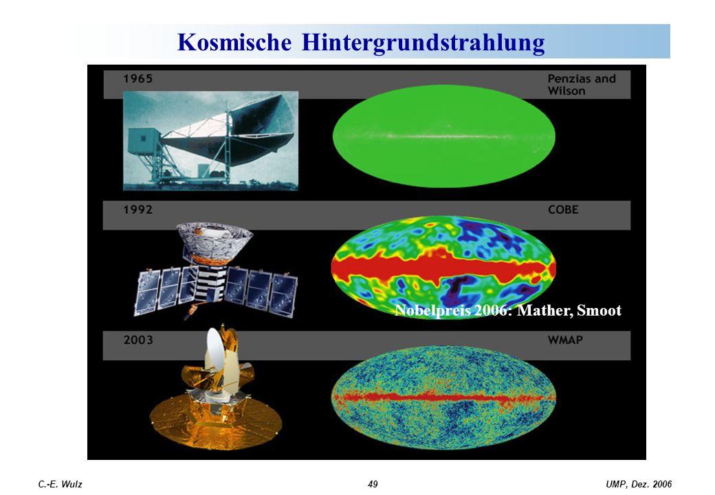 UMP, Dez. 2006C.-E. Wulz49 Kosmische Hintergrundstrahlung Nobelpreis 2006: Mather, Smoot