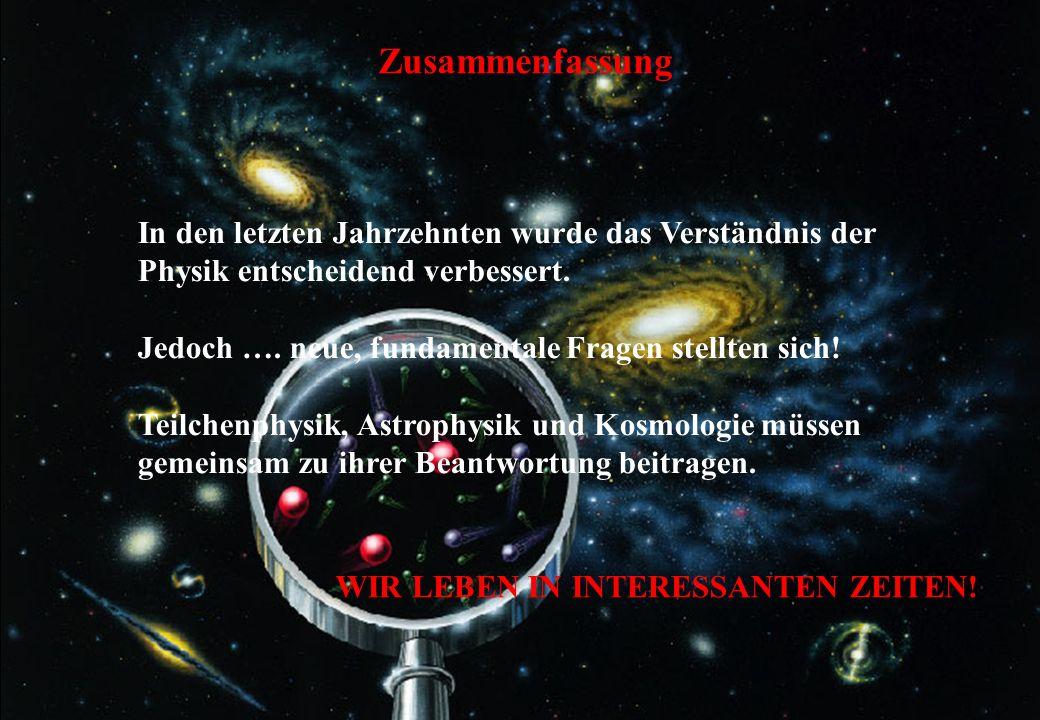 UMP, Dez. 2006C.-E. Wulz52 Zusammenfassung In den letzten Jahrzehnten wurde das Verständnis der Physik entscheidend verbessert. Jedoch …. neue, fundam