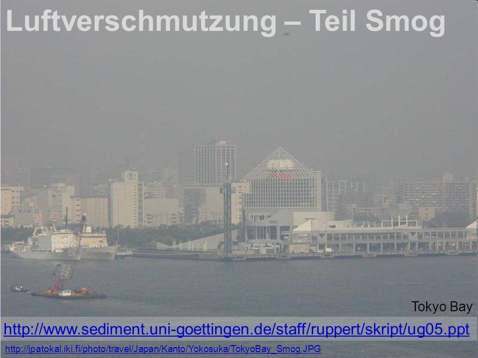 Luftverschmutzung – Teil Smog Tokyo Bay http://jpatokal.iki.fi/photo/travel/Japan/Kanto/Yokosuka/TokyoBay_Smog.JPG http://www.sediment.uni-goettingen.