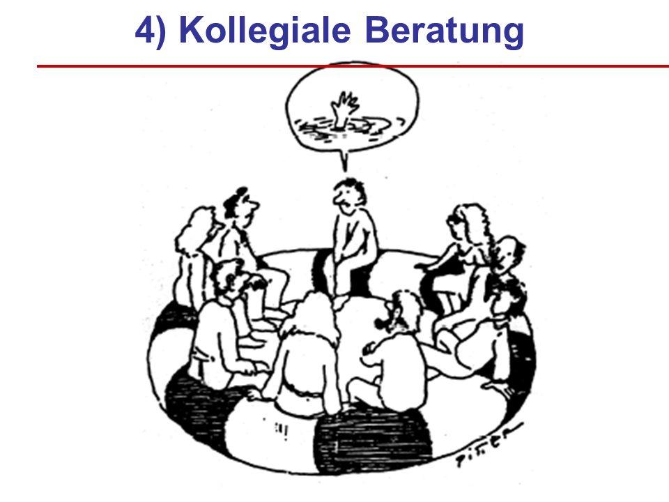 4) Kollegiale Beratung