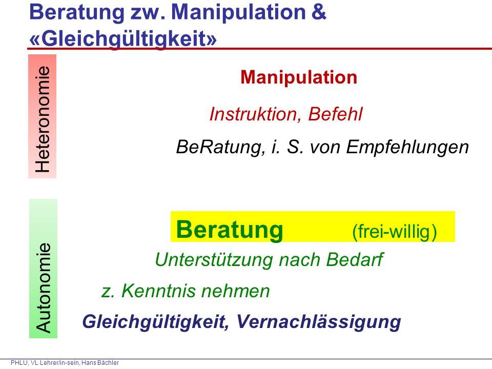 PHLU, VL Lehrer/in-sein, Hans Bächler Beratung zw.
