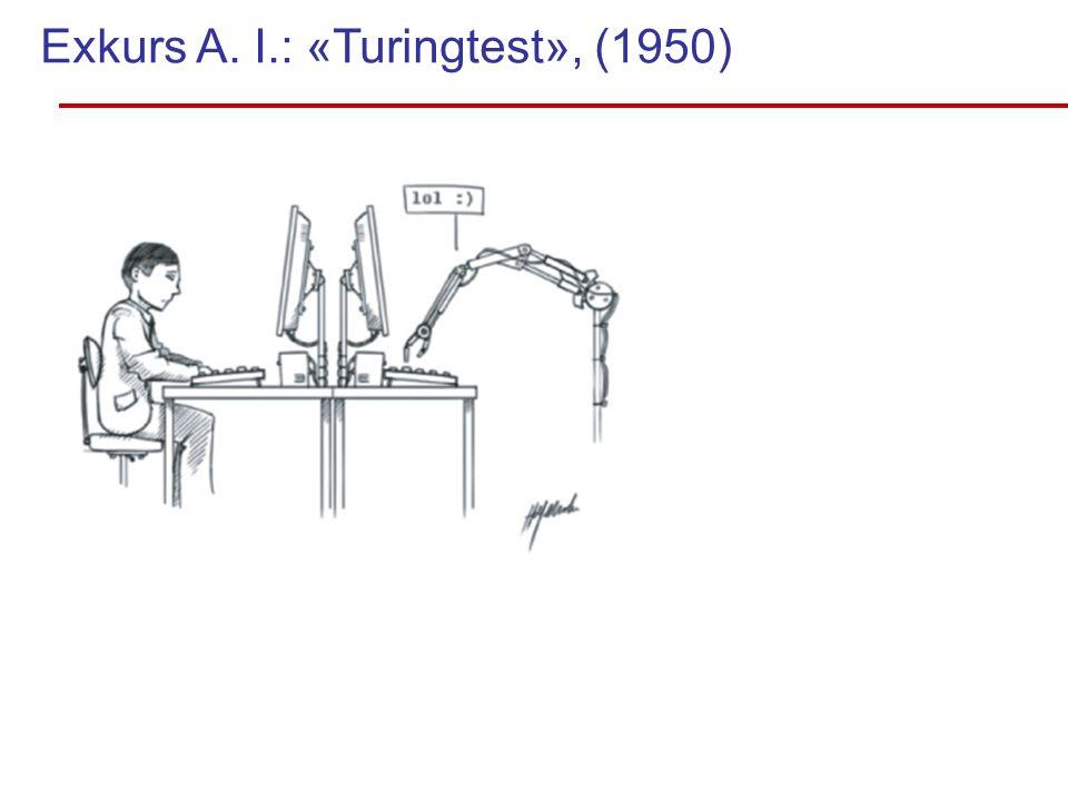 Exkurs A. I.: «Turingtest», (1950)