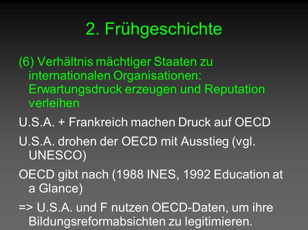 2. Frühgeschichte (6) Verhältnis mächtiger Staaten zu internationalen Organisationen: Erwartungsdruck erzeugen und Reputation verleihen U.S.A. + Frank