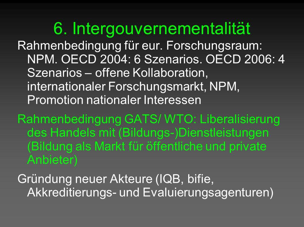 6. Intergouvernementalität Rahmenbedingung für eur.