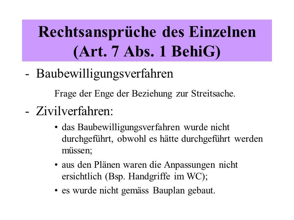 Rechtsansprüche des Einzelnen (Art. 7 Abs.