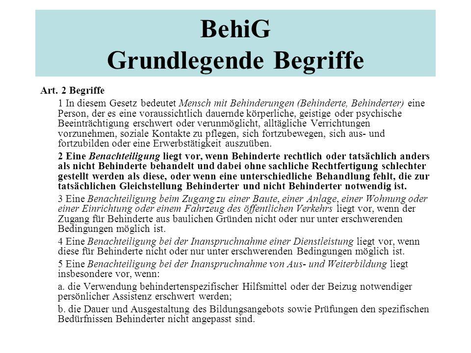 BehiG Grundlegende Begriffe Art.