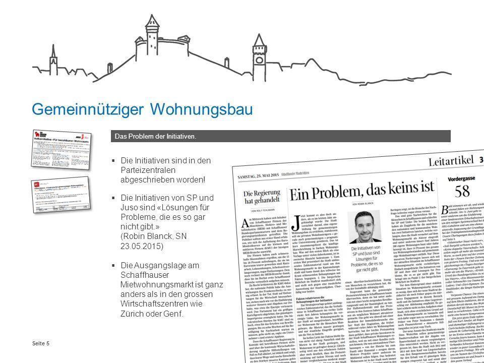 Schaffhausen, Januar 2016Seite 5 Das Problem der Initiativen.