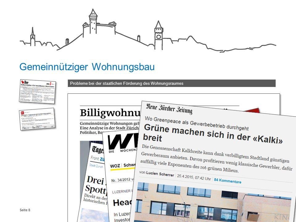 Schaffhausen, Januar 2016Seite 8 Probleme bei der staatlichen Förderung des Wohnungsraumes Gemeinnütziger Wohnungsbau
