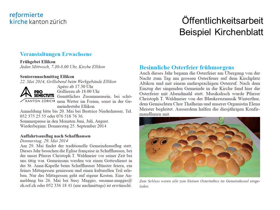 Öffentlichkeitsarbeit Beispiel Kirchenblatt