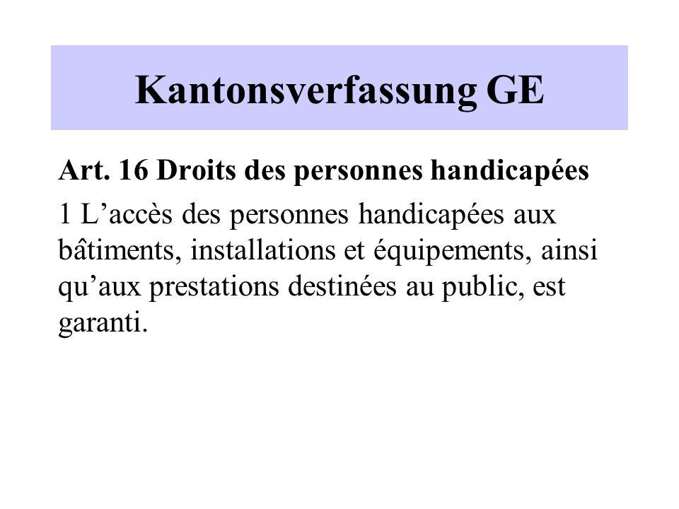 Kantonsverfassung GE Art.