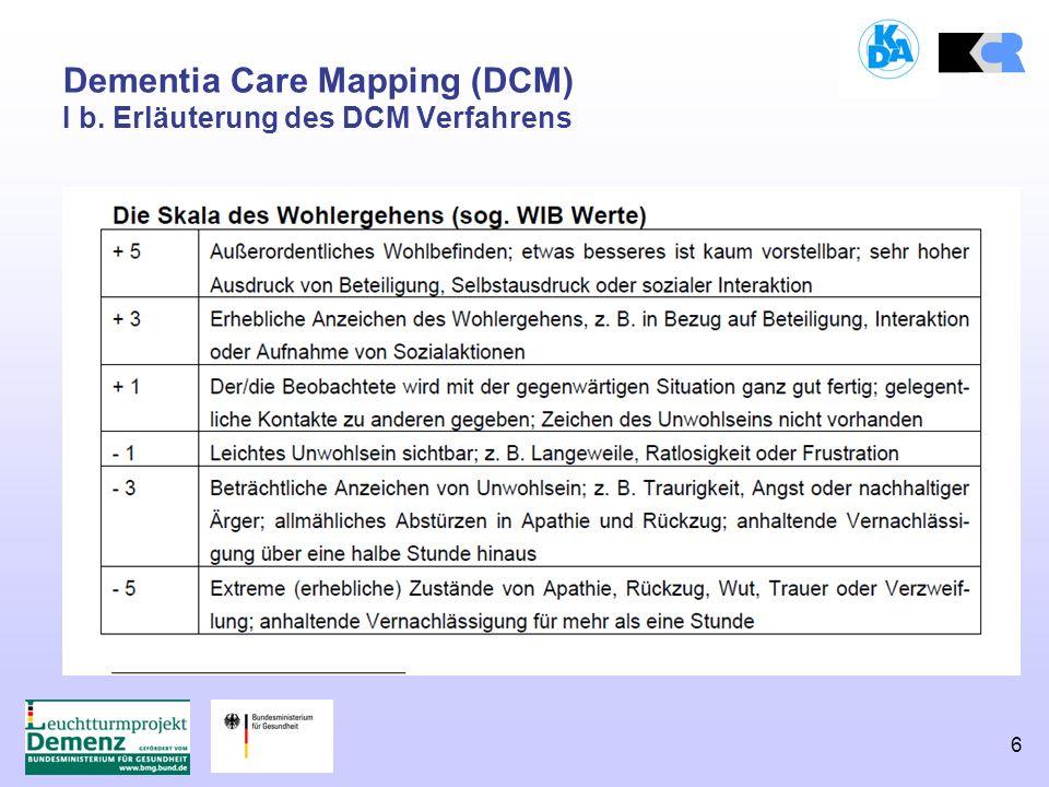 6 Dementia Care Mapping (DCM) I b. Erläuterung des DCM Verfahrens