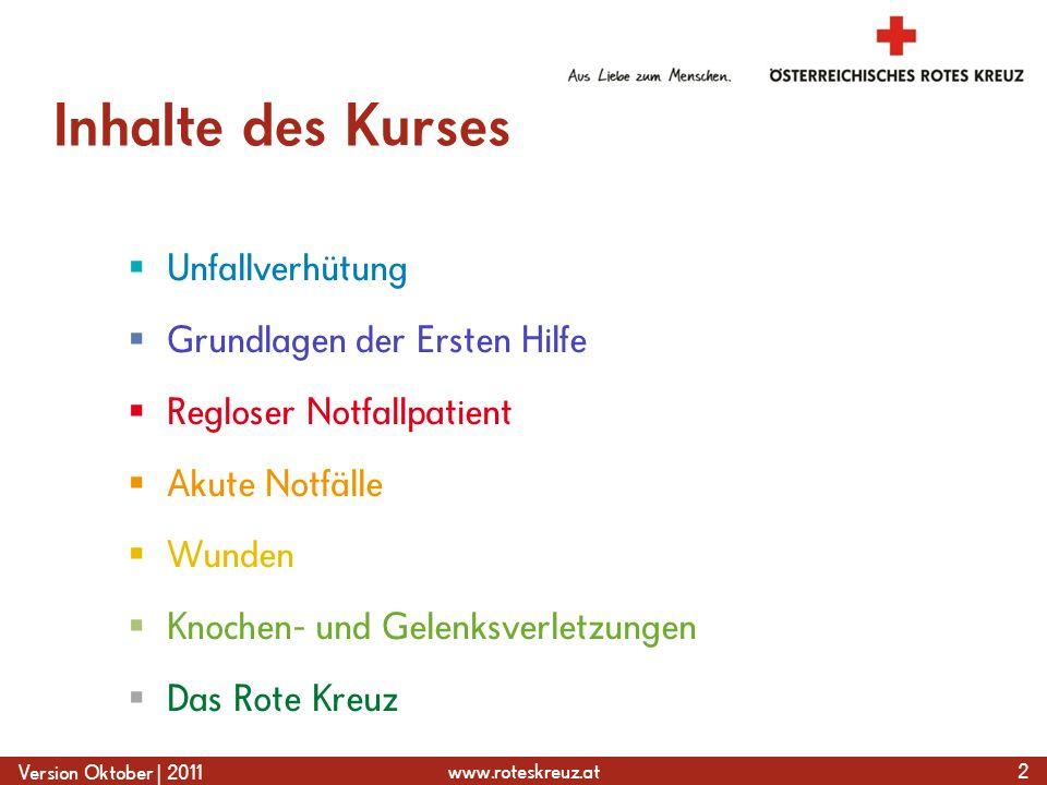 www.roteskreuz.at Version Oktober   2011 Schnittwunde an der Hand 73