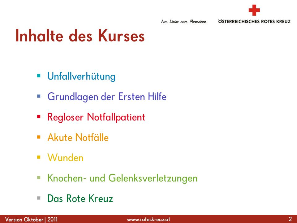 www.roteskreuz.at Version Oktober   2011 Starke Blutung – Fingerdruck 63