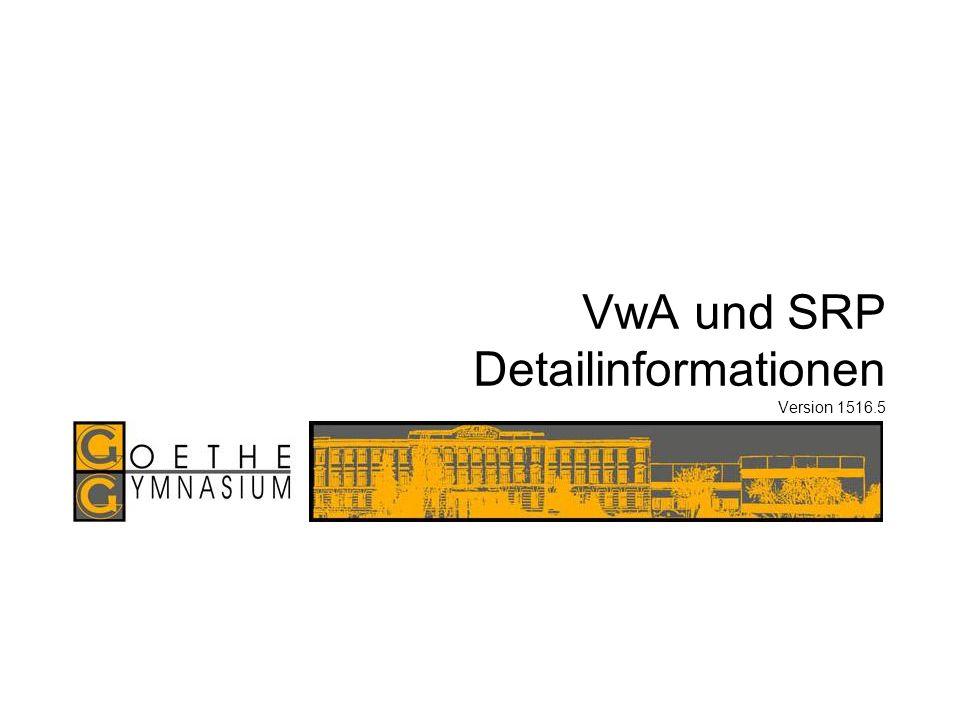 www.goethegymnasium.at VwA & SRP Info Göss SRPm Setting