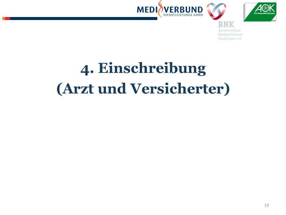 14 4. Einschreibung (Arzt und Versicherter)