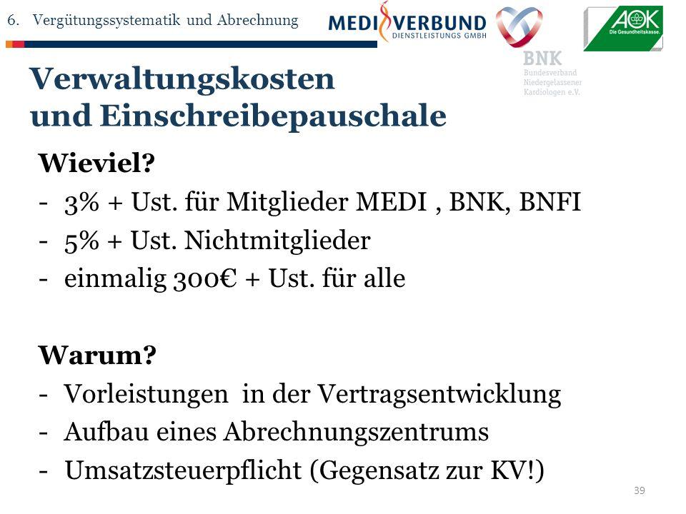39 Wieviel. -3% + Ust. für Mitglieder MEDI, BNK, BNFI -5% + Ust.