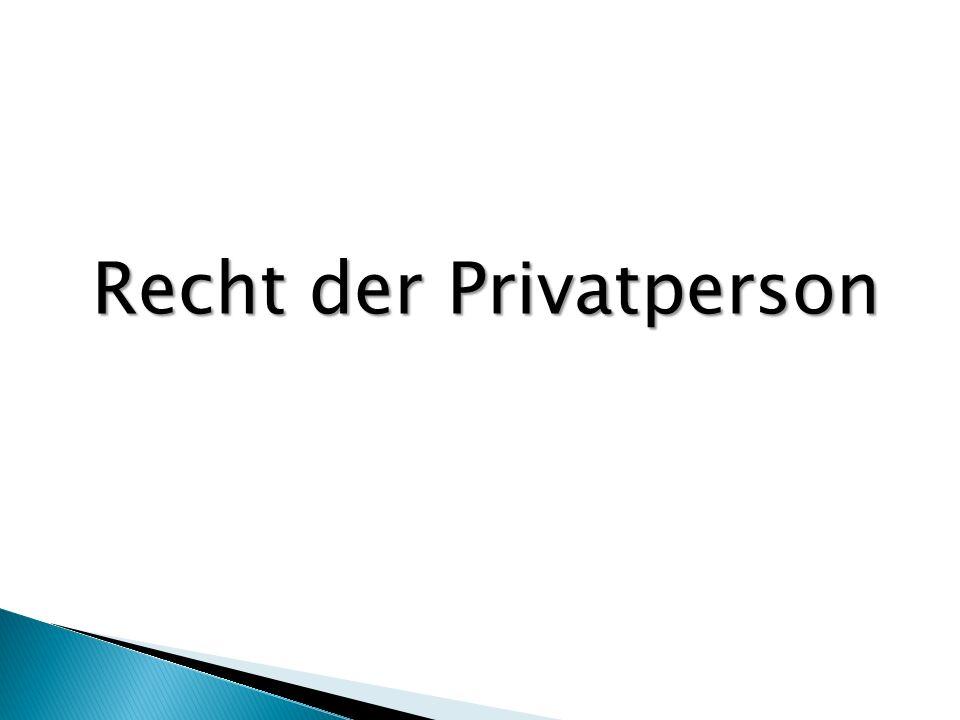 Recht der Privatperson