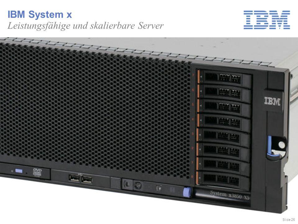Slide 25 IBM System x Leistungsfähige und skalierbare Server