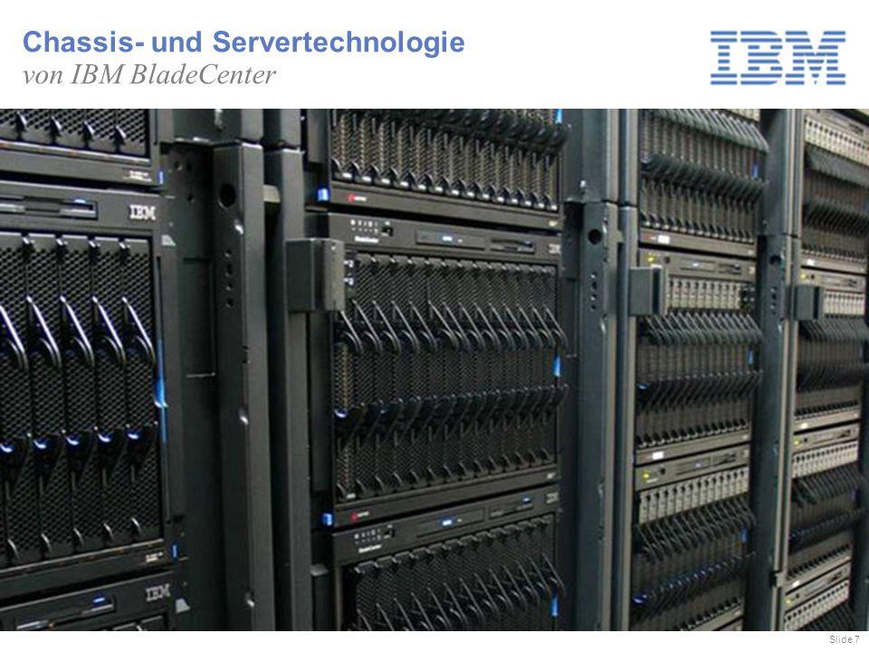 Slide 7 Chassis- und Servertechnologie von IBM BladeCenter
