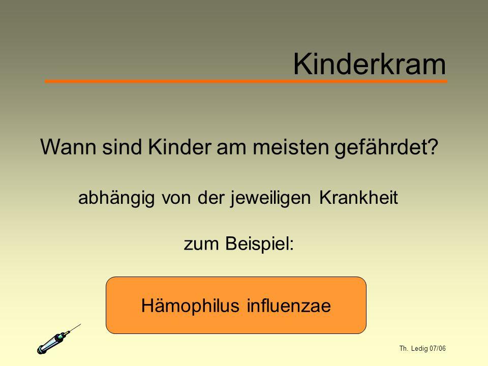 Th. Ledig 07/06 Kinderkram Wann sind Kinder am meisten gefährdet.