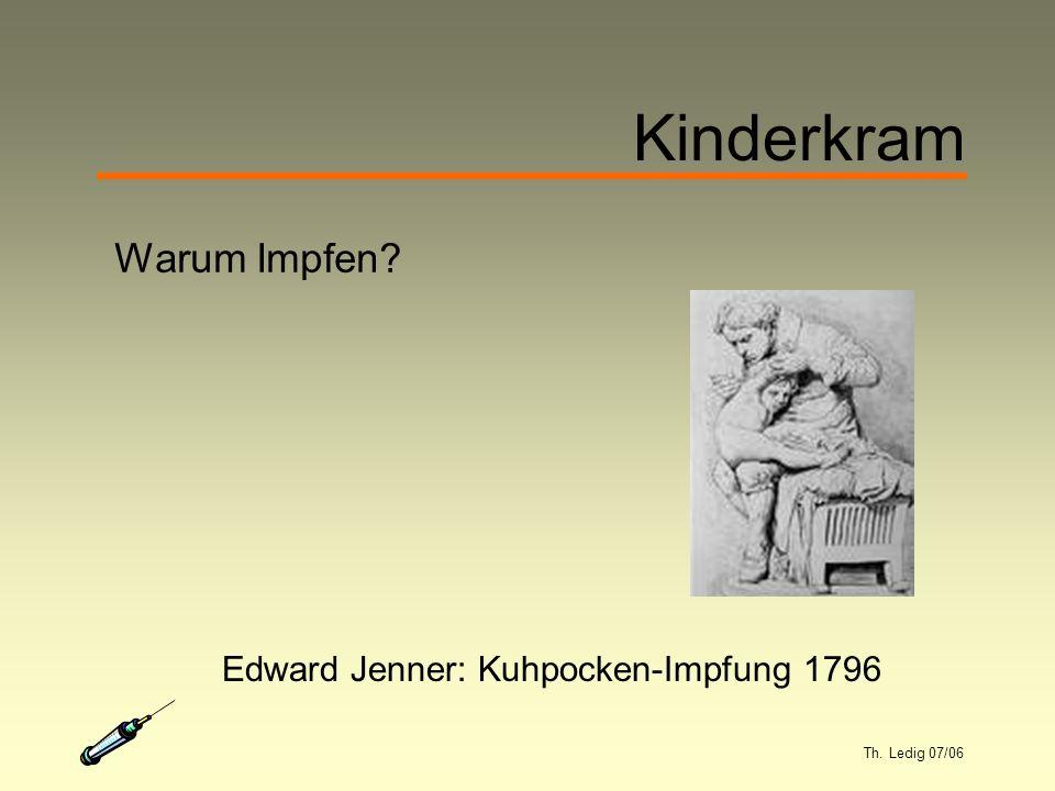 Th. Ledig 07/06 Kinderkram Warum Impfen Edward Jenner: Kuhpocken-Impfung 1796