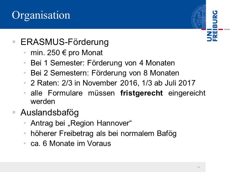 14 Organisation  ERASMUS-Förderung min.