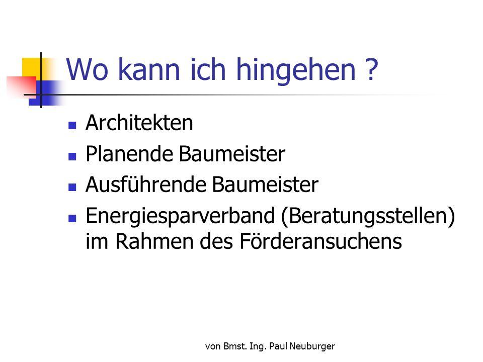 von Bmst. Ing. Paul Neuburger Wo kann ich hingehen .