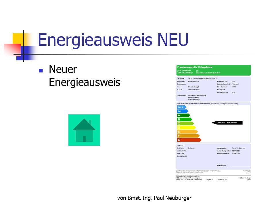 von Bmst.Ing. Paul Neuburger Energieausweis NEU Wer darf Energieausweise ausstellen .