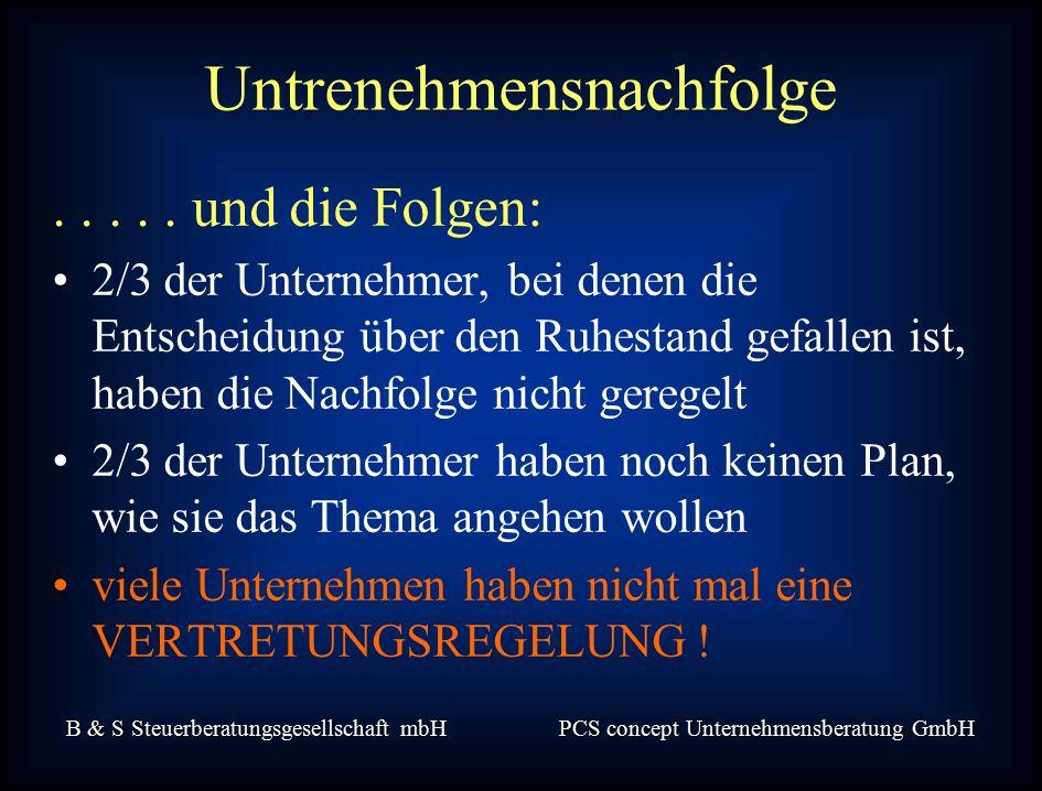 B & S Steuerberatungsgesellschaft mbH PCS concept Unternehmensberatung GmbH.....