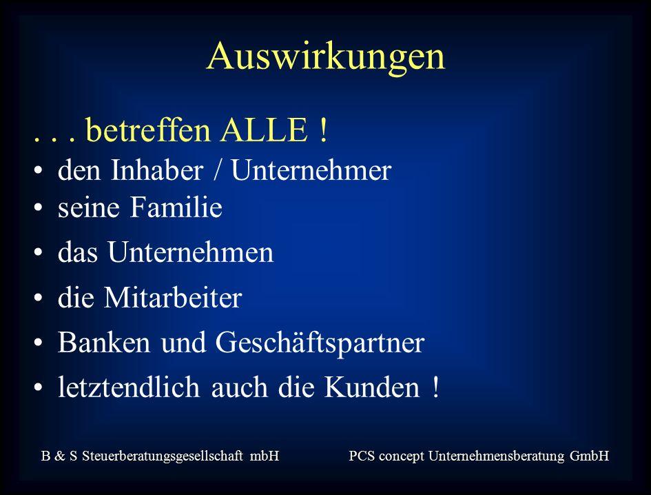 B & S Steuerberatungsgesellschaft mbH PCS concept Unternehmensberatung GmbH...