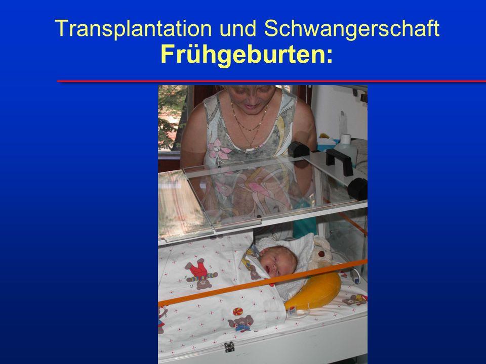 Transplantation und Schwangerschaft Frühgeburten: