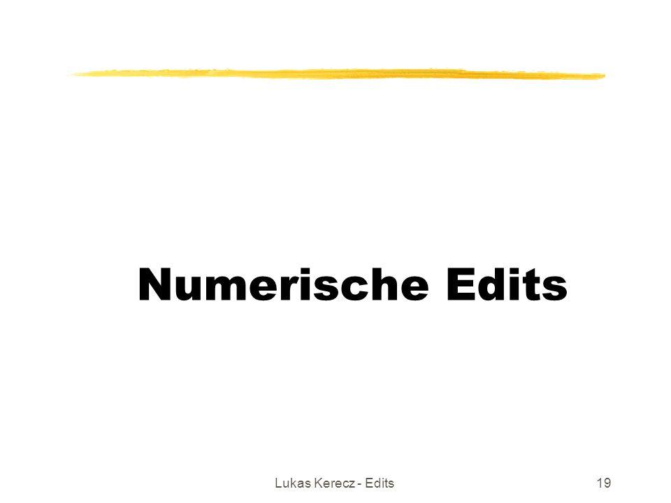 Lukas Kerecz - Edits19 Numerische Edits