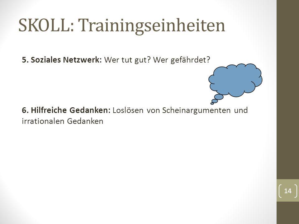 SKOLL: Trainingseinheiten 5. Soziales Netzwerk: Wer tut gut.