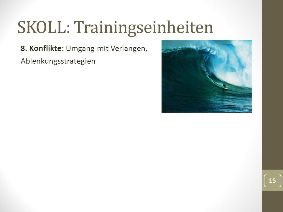 SKOLL: Trainingseinheiten 8. Konflikte: Umgang mit Verlangen, Ablenkungsstrategien 15