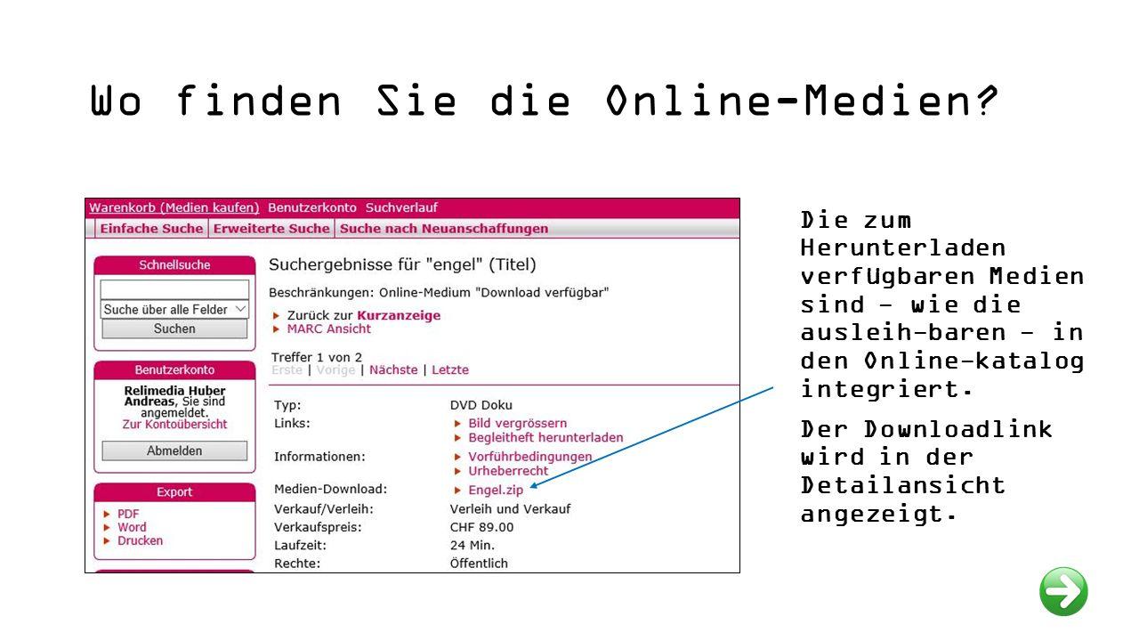Anmelden im Benutzerkonto (Login) Für den Onlinebezug von Medien ist die Anmeldung erforderlich!
