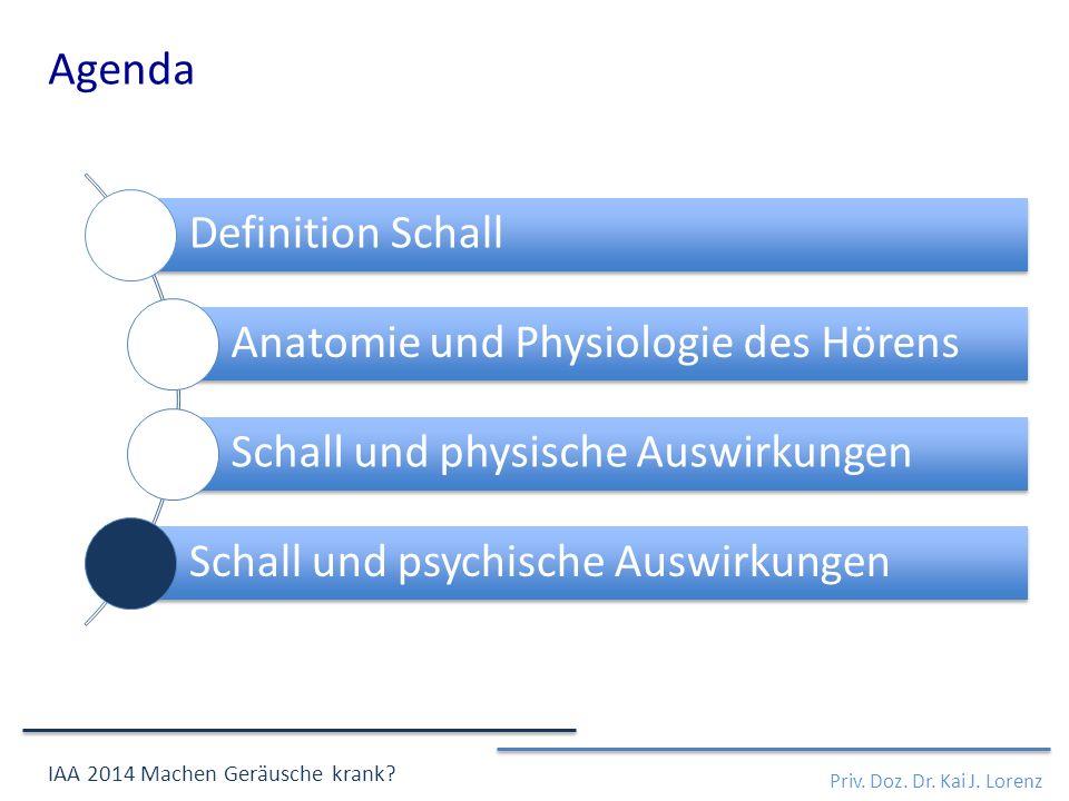 Definition Schall Anatomie und Physiologie des Hörens Schall und physische Auswirkungen Schall und psychische Auswirkungen Priv.