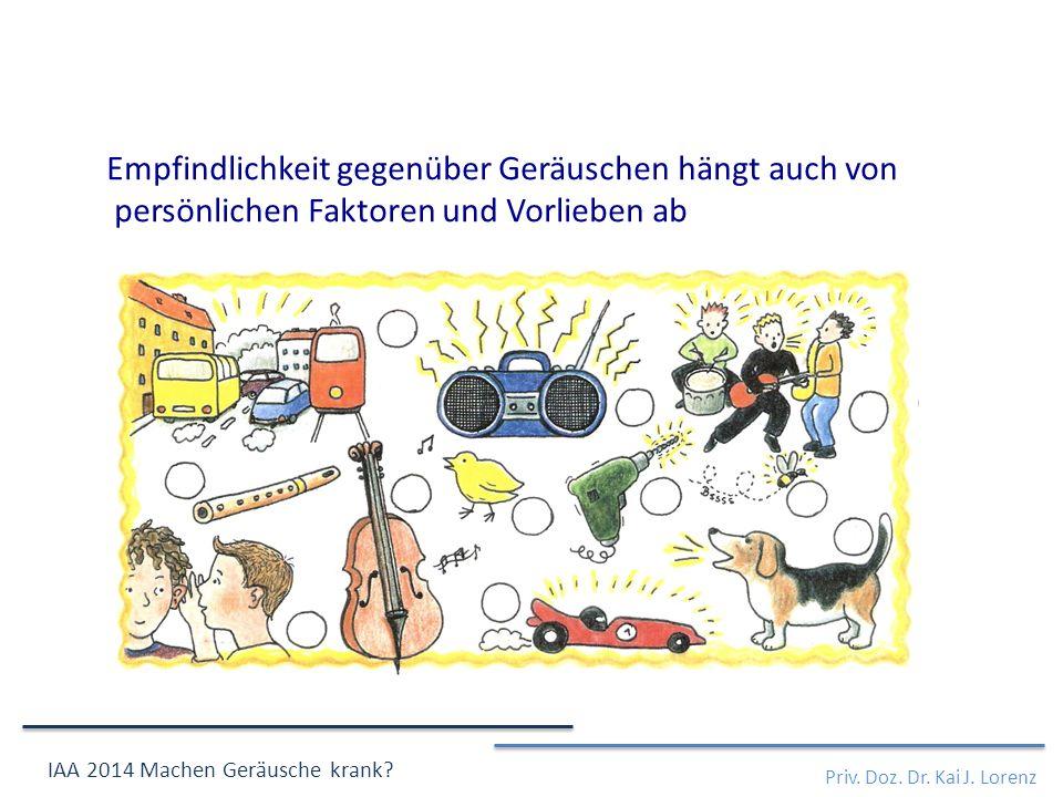 Priv. Doz. Dr. Kai J. Lorenz IAA 2014 Machen Geräusche krank.