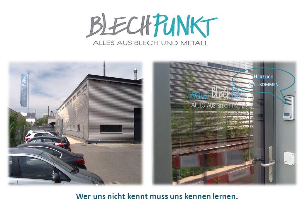 Über uns Geschichte der Firma Blech Punkt AG ( Eiko Blech AG ) November 1994 Die Firma Eiko Blech AG wird am 1.