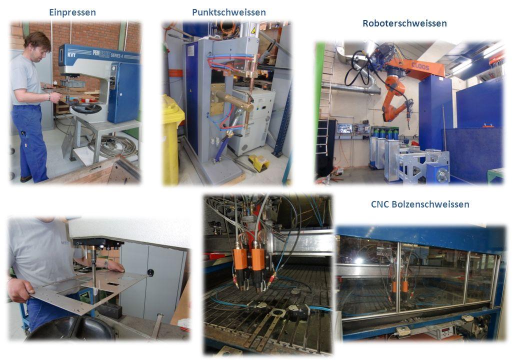Einpressen Punktschweissen CNC Bolzenschweissen Roboterschweissen